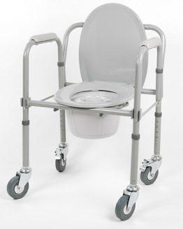 Кресло - туалет 10581 Са (на колесах)