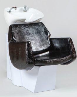 Парикмахерское кресло-мойка Евромедсервис SD-6638 черный