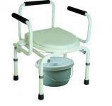 Кресло-туалет (с опускающимися подлокотниками)